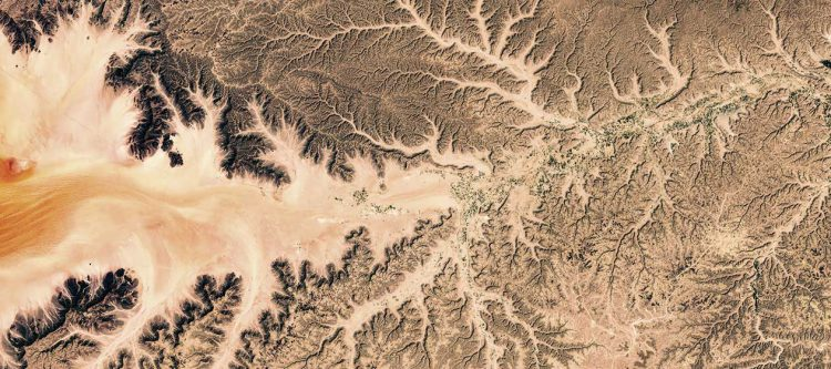 satellite view of rivers