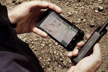 operator holding phone and gotenna pro x with atak app