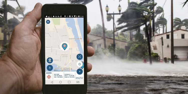LifeRing app in hurricane