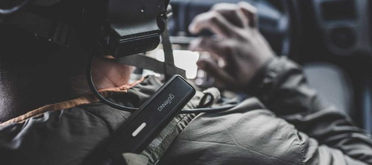 Defense operator with goTenna Pro and mobile phone