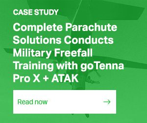 CASE STUDY / Complete Parachute Solutions Conducts Military Freefall Training with goTenna Pro X + ATAK / READ THE FULL STORY