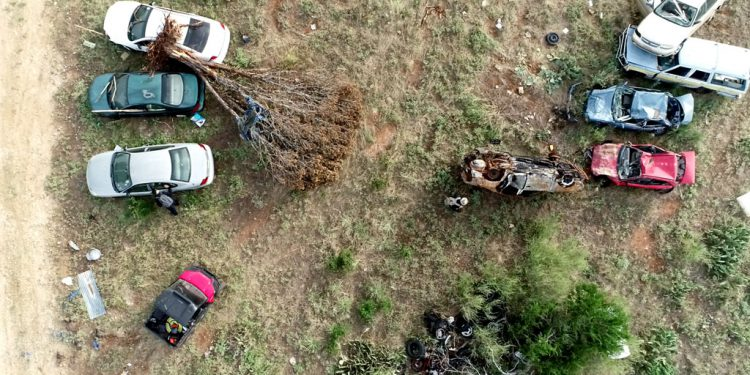 Mock disaster response scenario using drone photography and mapping