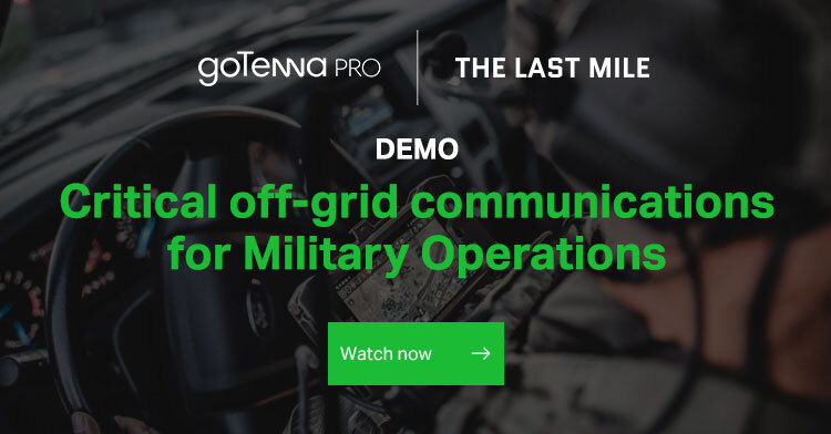 Webinar invite that says: Critical off-grid communications for military operations