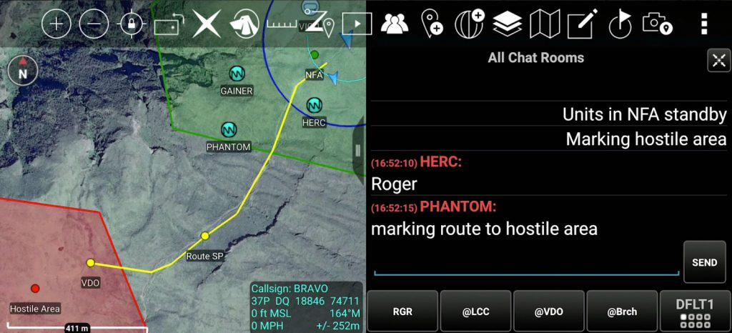 ATAK Create a Route